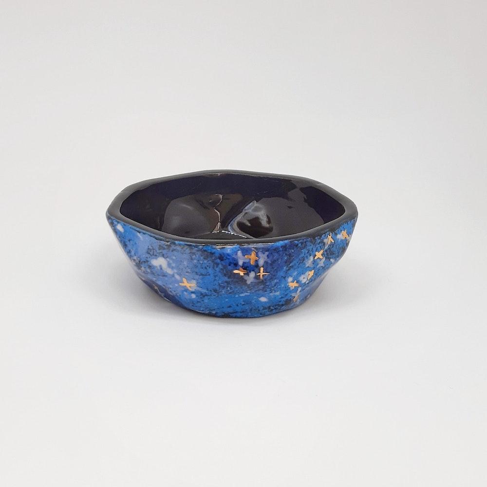 Lauren Michelle Designs  Blue Galaxy Tea-light Holder
