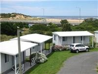 Cabins with an outstanding location courtesy Great Ocean Road Caravan Park, Peterborough