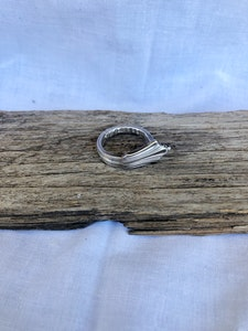 """Silver """"Soph"""" ring (Size R)"""