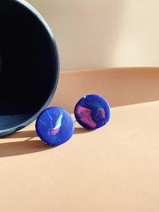 Blue Swirl Medium Stud