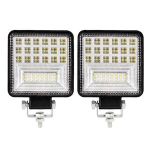 "LIGHTFOX LIGHTFOX Pair 4"" inch LED Work Lights Spot Flood Square Fog Lamp Reverse Offroad Truck"