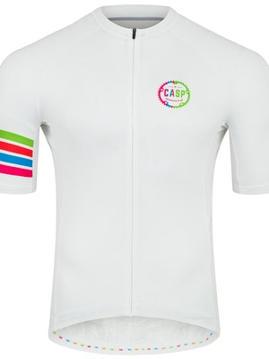 Casp Performance Cycling Classic Signature Jersey (White)