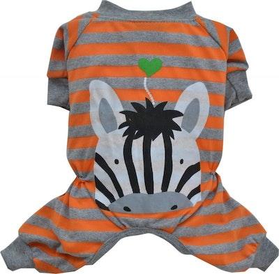 DoggyDolly SMALL DOG - Orange Zebra Pyjamas