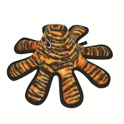 Tuffy Toys Tuffy Mega Small Octopus Oscar SchwarzaCreature Tiger Dog Squeaker Toy