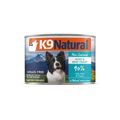 K9 Natural Beef & Hoki Feast Canned Dog Food 170G