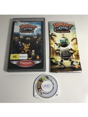 RATCHET & CLANK SIZE MATTERS Sony PSP Playstation Portable Game | Complete with Manual