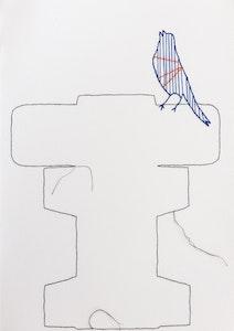 Tracy Stirzaker Songbird Blue - Original Artwork