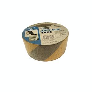 Anti-Slip Tape 48mm x 5m Moisture Resistant Durable Black / Yellow Strip