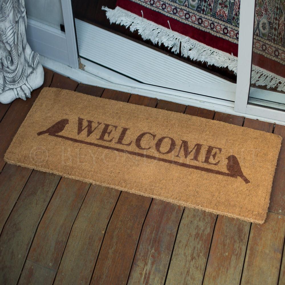 Fab Rugs 45x120cm Welcome 100 Coir Door Mat Doormat For