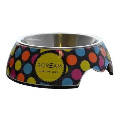 ScreamPet Scream Round Stainless Steel Non-Skid Pet Bowl - 3 Sizes