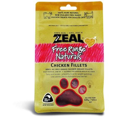 Zeal Free Range Naturals Chicken Fillets Dog Treats 125G