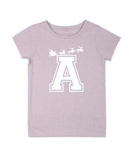 Personalised Varsity Sleigh Tee - Dusty Pink
