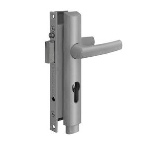 Austral Lock Elegance PUSH2GO Hinged Security Door Deadlock - Silver