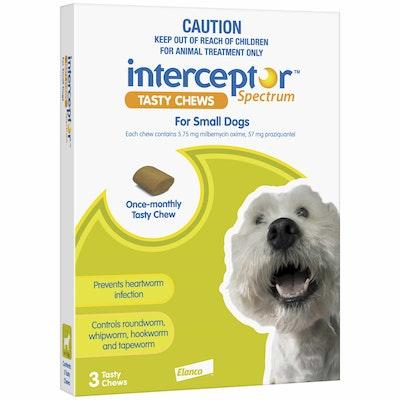 Interceptor Spectrum Tasty Chews Worming Treatment Small Dog