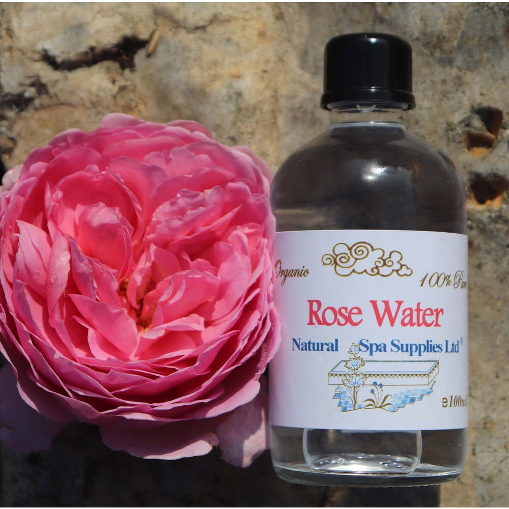 Natural Spa Supplies Rose Water, 100% Pure And Organic Ingredients