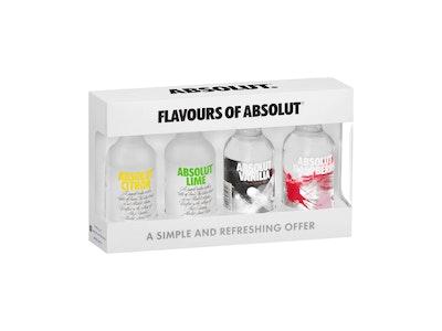 Absolut Vodka Mini Flavour Mix 4 Pack 50mL