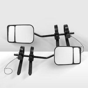 2x HMulti Fit Clamp On Towing Mirrors