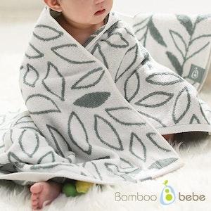 Bamboo Bath Towel - Botanic Pattern