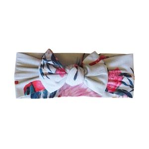 Marli & Me™ Bamboo Jersey Top Knot Headband | Aqua Protea