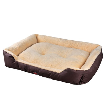 House of Pets Delight Deluxe Soft Cushion Washable Pet Bed - Warm Brown