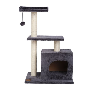 Charlie's Square House Cat Tree - Charcoal