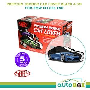 SAAS Medium Indoor Show Car Cover 4.5m Black Soft suits BMW M3 E36 E46 Coupe