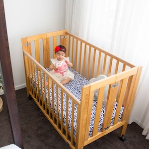 Babyhood Fold N Go Timber Cot