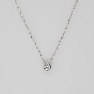 I Dream of Silver Classic Diamond-Pendant Necklace