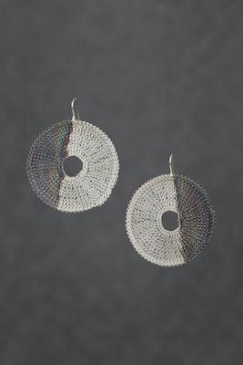 PAMdesigned Silver Plated Oxidised Round Earrings -Bella Earrings 2020