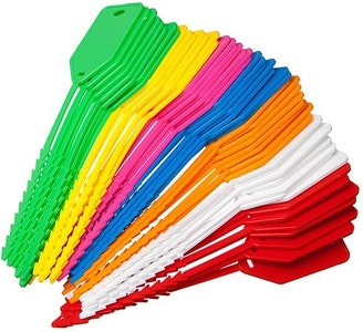 Kevron ID90 Econotag write on area assorted colours in a packet of 50
