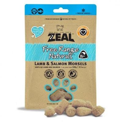 ZEAL FRN Zeal Lamb & Salmon Morsels Cat Treats 100G