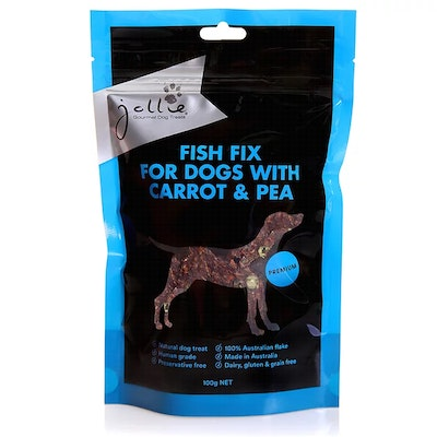 Jollie Gourmet Dog Treats Fish Fix for Dogs with Carrot & Pea 100g Pouch