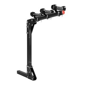 """3 Bicycle Bike Carrier Car Rear Rack 2"""" Hitch Mount TowBar Foldable"""