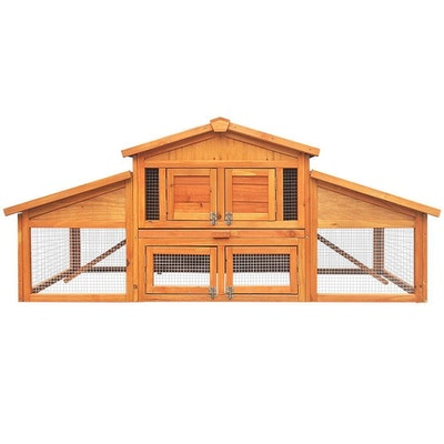 Extra Large 2 Story Wooden Chicken Coop/Hutch