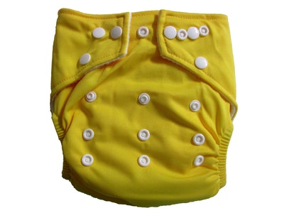 Hippybottomus Stay Dry Bamboo Cloth Nappy - Yellow