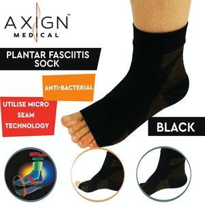 Boutique Medical AXIGN Medical Plantar Fasciitis Compression Sock Sleeve - Black