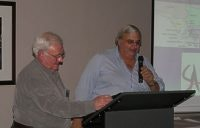 SA Parks President Richard Davis presents Ron Shattock with his life membership