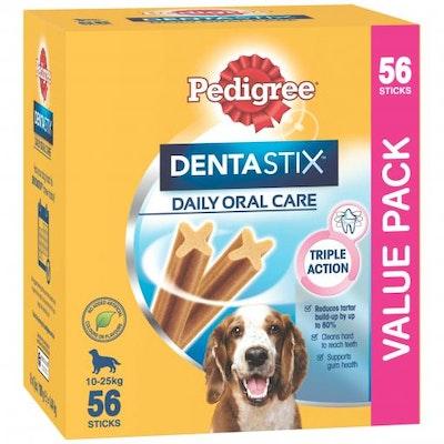 Pedigree Dentastix Oral Care Medium Breed Dog Treats 56 Pack