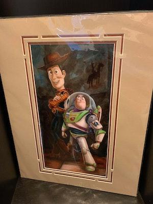 Deluxe Disney Artist Print - Buzz & Woody by Darren Wilson