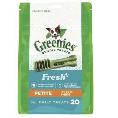 Greenies Fresh Mint Petite Dogs Dental Treats 7-11kg 340g