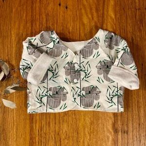 jacket - koalas / organic cotton hemp fleecy / warm winter coat / unisex / eco friendly / baby toddler