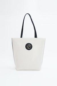1 People Monte Carlo Organic Cotton Tote Bag in White Dove
