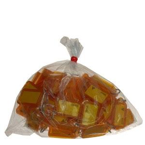 Kevron Clicktag key tags, orange in a bag of 50