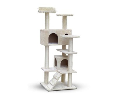 House of Pets Delight 134cm Multi Level Cat Post in Beige