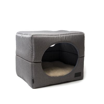 La Doggie Vita Water Resistant Dog Cube Grey