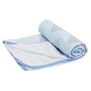 aden ziggy blue - broken chevron stroller blanket