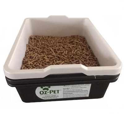 Oz-Pet 1-2-3 Solution Economical Odorless Cat Loo Tray Kit Charcoal
