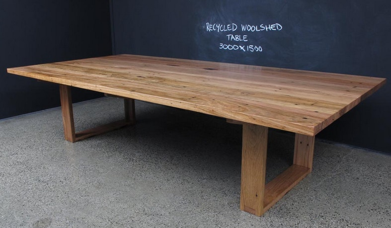 christian cole furniture recycled timber dining table