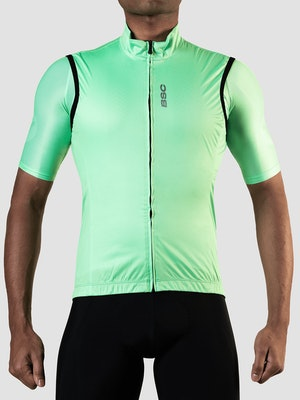Black Sheep Cycling Men's Essentials TEAM Vest - Block Neon Green