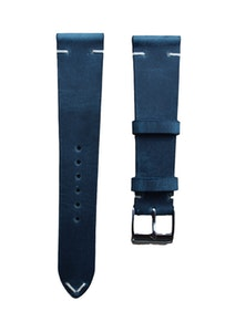 Artisan Straps - Renwick Two-Stitch Strap in Navy